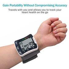 Automatic Wrist Blood Pressure Monitor Cuff Portable Case Heartbeat Home Talking
