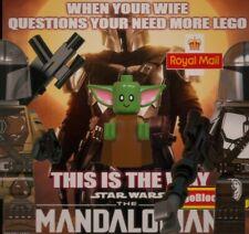 Para Lego Mandalorian + Bebé Yoda Star Wars Mini figura