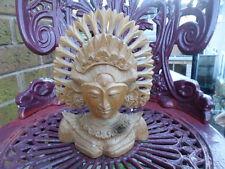 Vintage wooden carved indian budda head