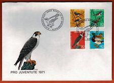 1971 - Fdc 1°Jour - Oiseaux - Faucon - Pro Juventute  - Obl.Bern - Stamp.891/4