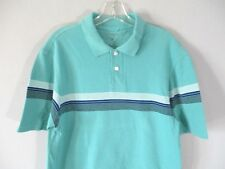Hagger Men's Size L Short Sleeve Striped Polo Shirt