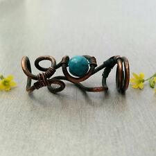 Steampunk dreadlock bead, dread bead, hair bead, loc bead, turquoise jewelry