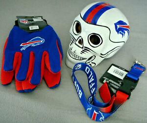 New NFL Adult Buffalo Bills Work Sport Utility Gloves Lanyard Keychain w/ Safety