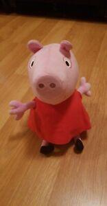 Fisher Price Peppa Pig Hug N' Oink Talking Stuffed Plush Animal Toy