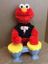 """Sesame Street Let's Rock Elmo sings six rockin' songs 13"""" Automaton With Drums"""