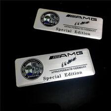 2x AMG Affalterbach Emblem PLAKETTE Logo Schriftzug  Aufkleber für Benz AMG YL