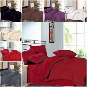 Duvet Cover Quilt Bedding 4 Pc Set With Pillowcase fitted sheet Double King size