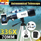 336X 70mm Pro Astronomical Telescope Refractor Night View For Star Moon Outdoor