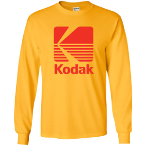 Kodak Film, Camera, Photography, Photographer, Retro Logo, Long Sleeve T-Shirt