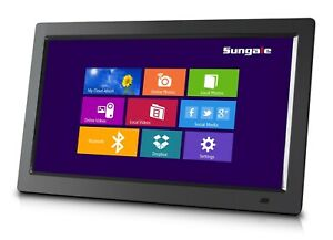 "Sungale 14"" WiFi Cloud Digital Photo Frame, Remote Control, HD Display, CPF1510+"
