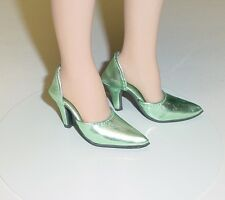 Doll Shoes, 42mm METALLIC LT GREEN Easy to Wear for Sybarite, MA Alex