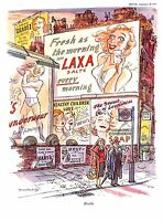 Health.Advert.Fitness.Cartoon.1955.Zest.Punch.Soap.Vitamins.Pharmacy.Vintage.Art