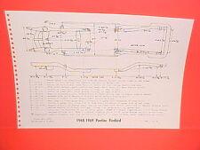 1968 1969 PONTIAC FIREBIRD RAM AIR TRANS AM CONVERTIBLE FRAME DIMENSION CHART