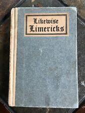 Antique LIKEWISE LIMERICKS BOOK 1910 Boston Press Pocket Size Book