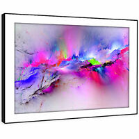 AB969 Retro Colourful Cool Modern Abstract Framed Wall Art Large Picture Prints