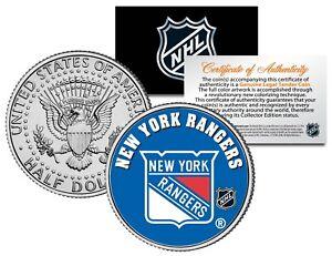NEW YORK RANGERS NHL Hockey JFK Half Dollar U.S. Coin - OFFICIALLY LICENSED