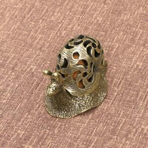 Solid Brass Snail incense burner incense ornaments Decoration Animal Figurine
