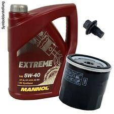 5L Mannol Extreme 5W-40 Öl Motoröl + Ölfilter + Ablassschraube für Renault