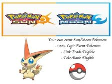 Pokémon Ultra Sun And Moon 20th Anniversary Mythical Event Pokemon Victini