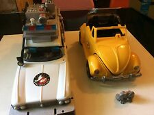 1996 Extreme Ghostbusters Trendmaster Ecto 1 Ambulance+Highway Haunter VW