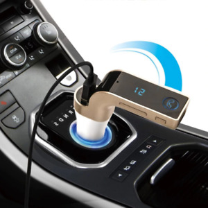 G7 Bluetooth Car Kit FM Transmitter USB Charger Adapter MP3 Player GOLD