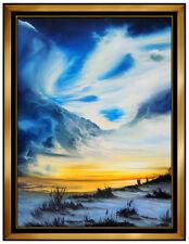 Ashton Howard Large Original Oil Painting on Canvas Ocean Landscape Signed Art