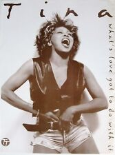 "TINA TURNER ""WHAT'S LOVE GOT TO DO WITH IT"" NEW ZEALAND PROMO POSTER - In Shorts"