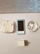 Apple iPod nano 7th Generation Blue (16 GB) Model A1446 with Accessories