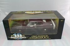 1969 Dodge Charger R/T Maroon  from year 2000 new old stock 1-18 ERTL #36573
