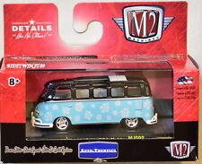 M2 Machines Auto-Thentics 1959 Vw Microbus Deluxe Usa Model Mjs02 Blue W+