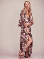 Free People Fern Printed Maxi Dress Cream Combo NWT $350 0 2