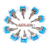 2/5/10PCS Mini MTS-102 3-Pin SPDT ON-ON 6A 125VAC Miniature Toggle Switches Blue