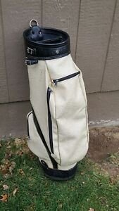 Vintage Ram Leather Golf Bag Gorgeous Black and White Unique Cool Stylish!!!!!!!