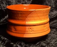 Charming Handmade Terracotta Studio Pottery Bowl, Highly Decorative