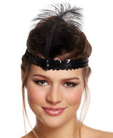 Charleston Sequin Headband - Fancy Dress Costume Outfit Party Feather