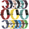 Replacement Band Sport Silicone 3D Wristband Watch Strap For Fitbit Charge 3
