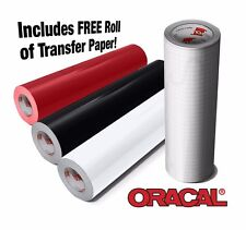 ORACAL 651 Vinyl Red White and Black Starter Bundle With Transfer Paper Roll