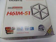 New Gigabyte GA-H61M-S1, LGA 1155, Micro ATX Intel Motherboard
