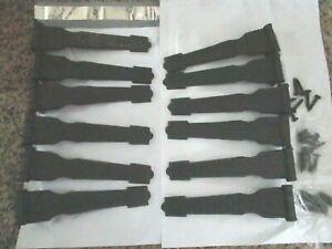 vinyl Shutter faux Hinges- lot of 12 & screws