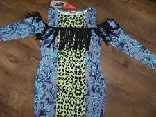 NEW BEAUTIFUL UNUSUAL FRINGED LOVE LABEL BODY CON DRESS SIZE 12