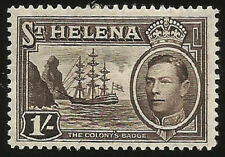 1938 ST. HELENA INSEL SCHIFF KING GEORGE VI 1 SCHILLING  UNGEBRAUCHT MARKE