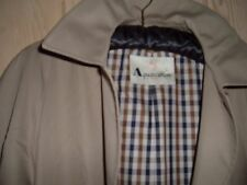 CLASSIC VITG AQUASCUTUM LADIES TRENCH RAIN COAT BEIGE CHECK LINING  sz 12 reg
