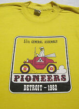 vintage 1982 Pioneers Detroit general assembly Small T-Shirt vtg