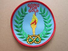 Going For Gold Cloth Patch Badge Boy Scouts Scouting L3K D