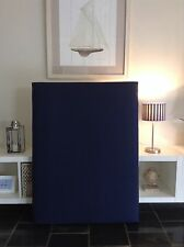 FUN BEDHEADS Single Size Navy Blue Design Upholstered Bedhead