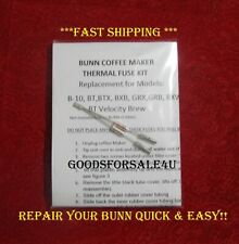 Repair Your Bunn Coffee Maker ~ Water not Heating? New Thermal Fuse Kit!! READ!!