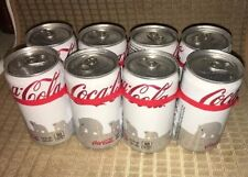 "Full 8-pack 7.5 Ounce Cans Unopened White Coca-Cola 2011 ""Save the Polar Bear"""
