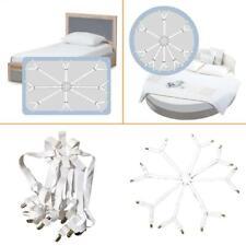 Bed Sheet Mattress Corner Suspender Gripper Holder Fixing Adjustable Straps Clip