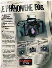 PUBLICITE ADVERTISING 095  1988  CANON EOS 750 appareil photo