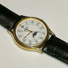 Vintage Seiko Moonphase with Canlendar gold plated watch. 6F22-7009